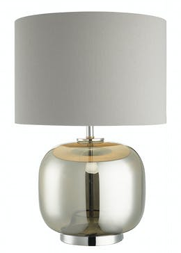 Lucas Glass Table Lamp (H48cm x W33cm)