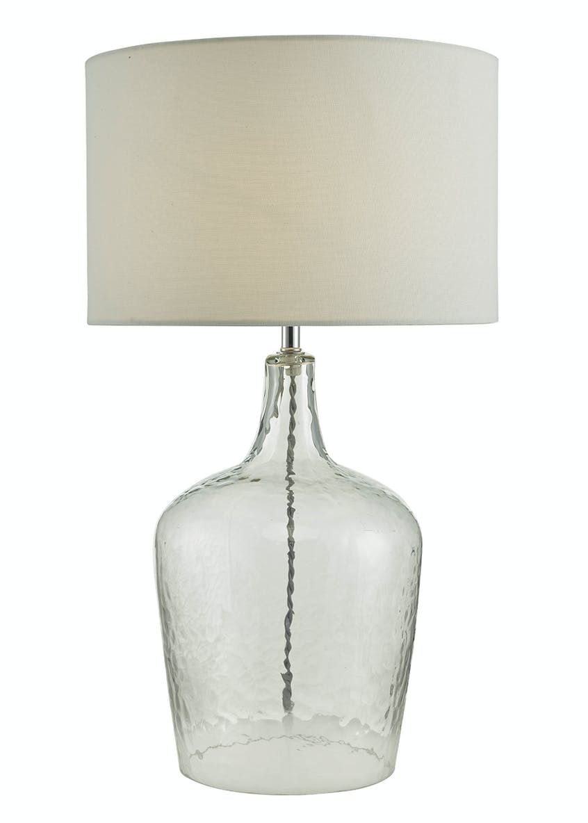 Ella Glass Table Lamp (H58cm x W35cm)