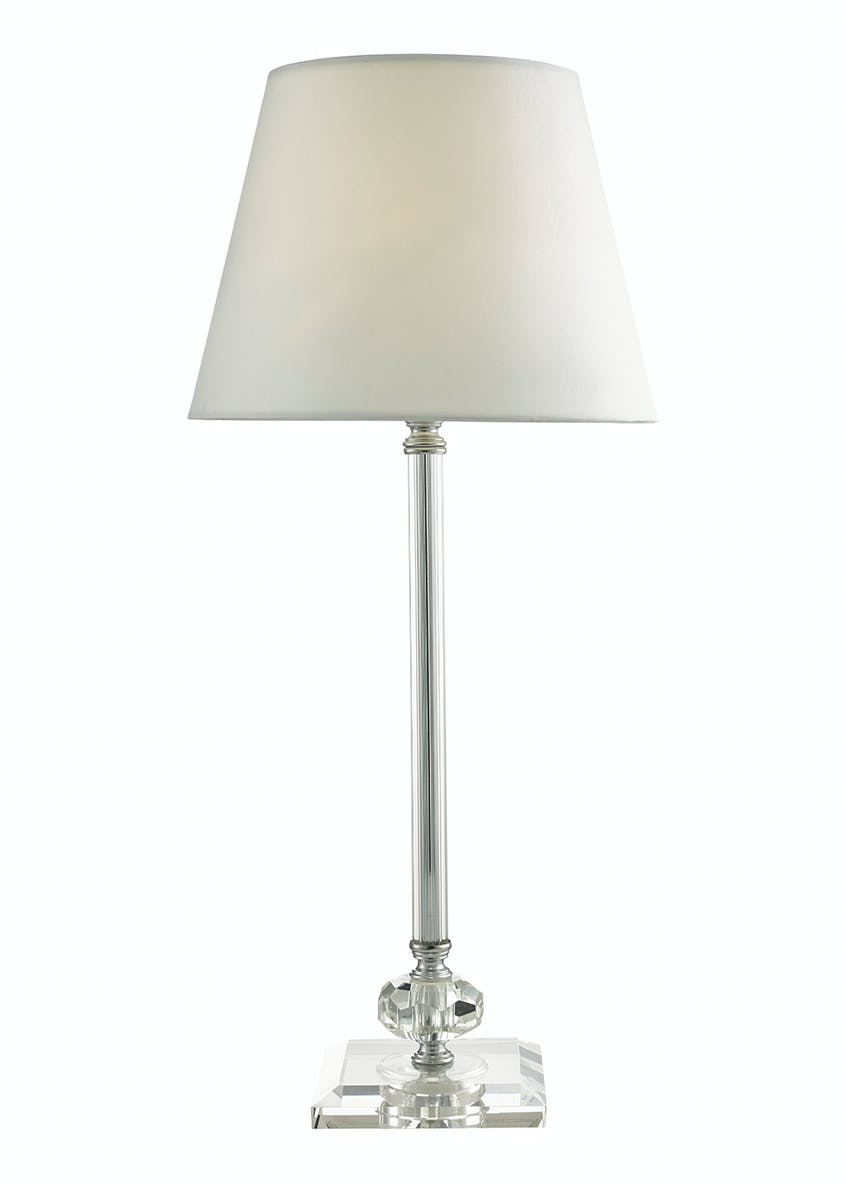 Cecelia Long Glass Stem Table Lamp (H50cm x W23cm)