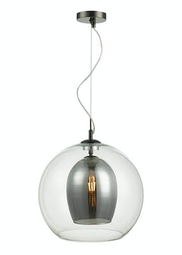 Noah Glass Pendant Light (H120m-39cm x W35cm)