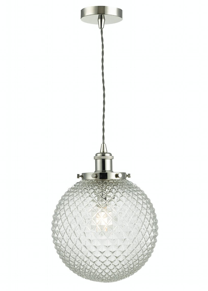 Aria Glass Pendant Light (H120cm-33cm x W25cm)