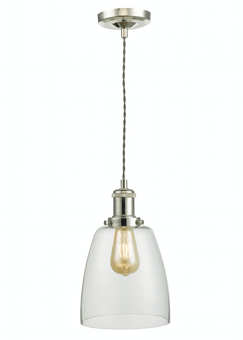 Harper Glass Pendant Light (H120cm-34cm x W19cm)