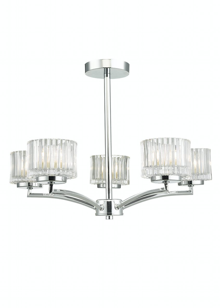 Oscar Semi Flush Light (H33cm x W49cm)