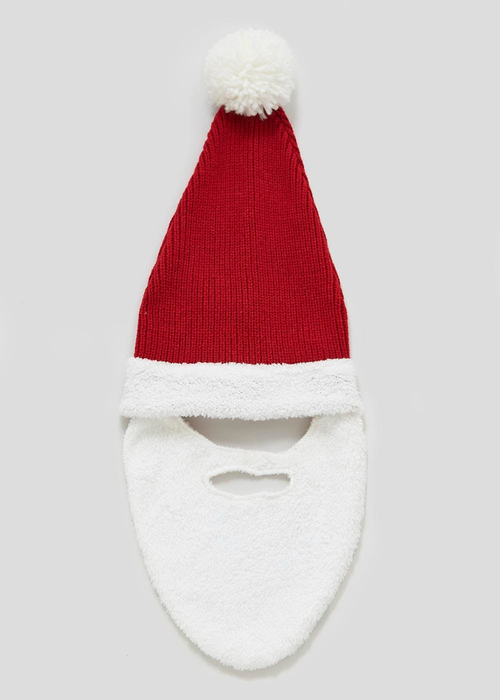 36ddfb06c7b Adult Unisex Santa Christmas Hat with Removable Beard – Red – Matalan