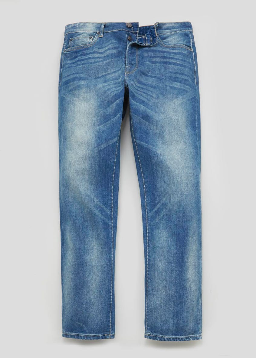 Straight Fit Light Wash Jeans