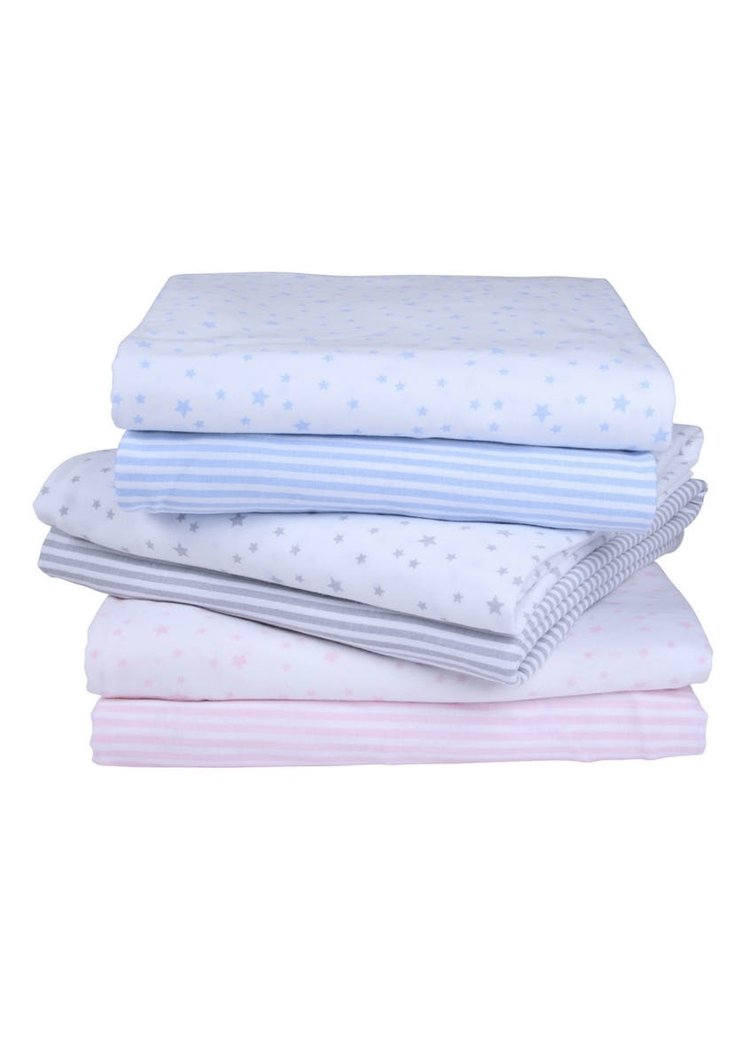 Clair de Lune 2 Pack Fitted Moses Basket Sheets (74cm x 30cm)
