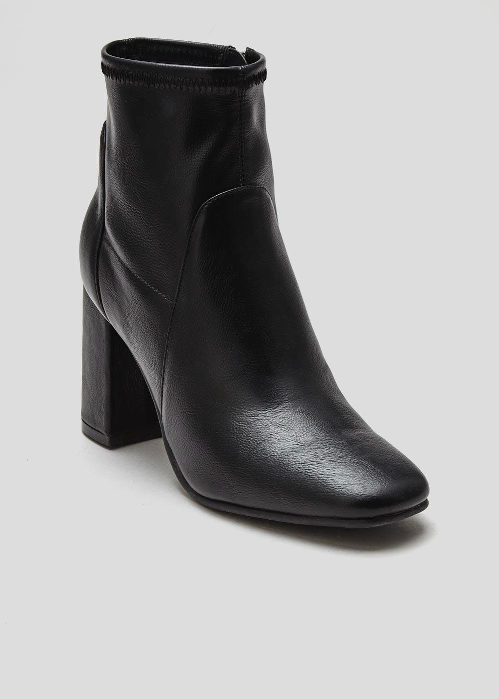 Wide Fit Sock Ankle Boots – Black – Matalan