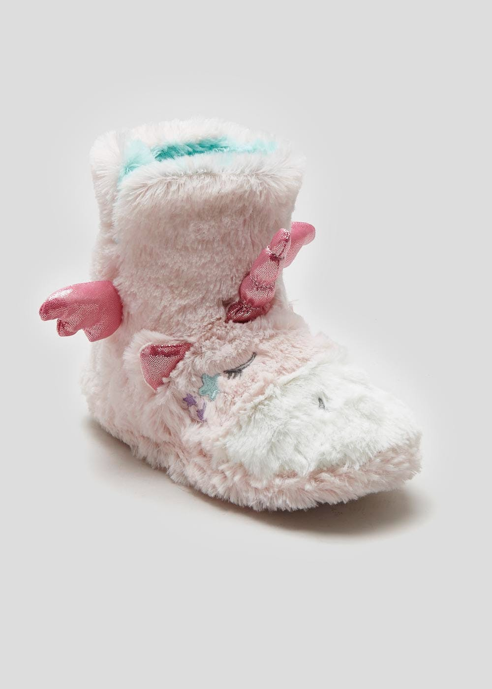 b39d2e324 Girls 3D Unicorn Slipper Boots (Younger 10-Older 5) – Pastel Pink ...