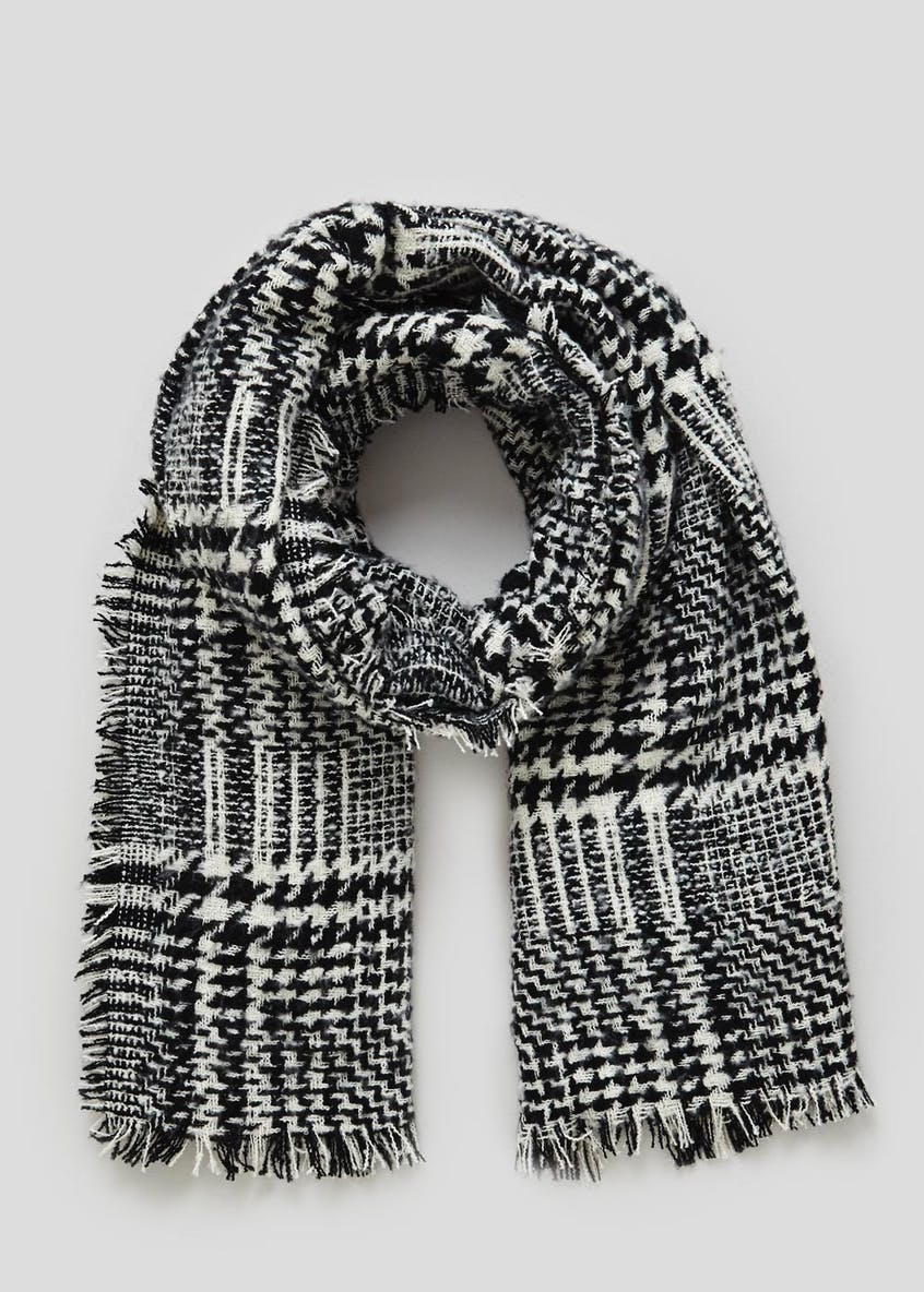 Dogtooth Check Blanket Scarf