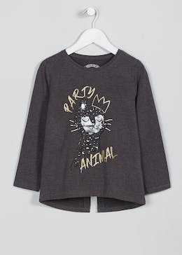 Girls Party Animal Long Sleeve Top (3-13yrs)