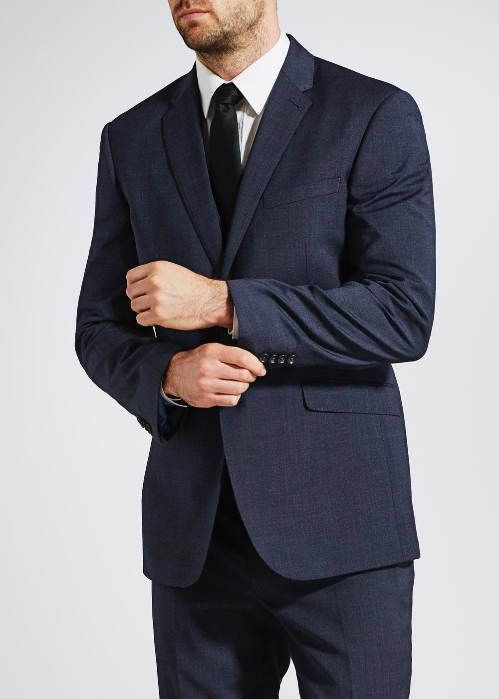 f540a401 Dylan Tailored Fit Suit Jacket – Navy – Matalan