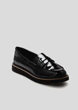 Chunky Sole Patent Loafers