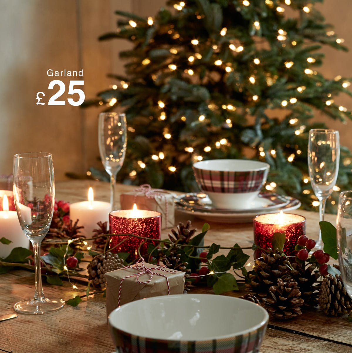SHOP GARLANDS & How to set the perfect Christmas dining table u2013 Matalan