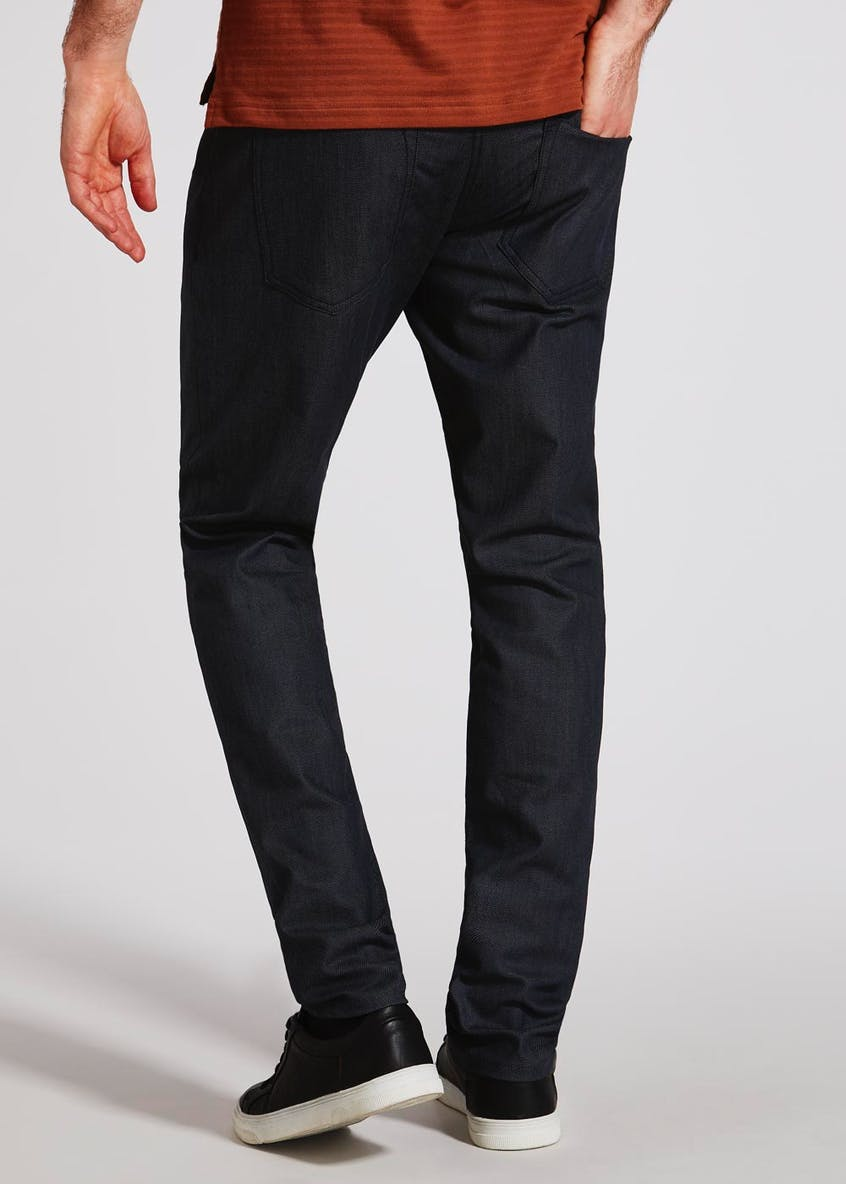 Straight Fit Coated Jeans