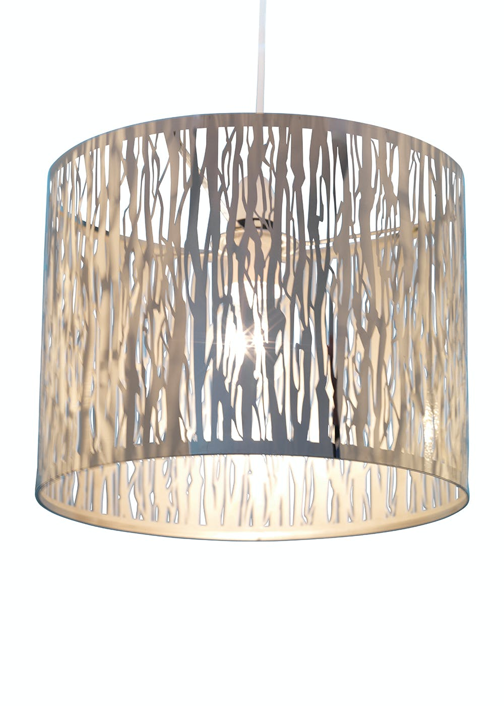 Donez metal easy fit lamp shade h24cm x w30cm silver matalan donez metal easy fit lamp shade h24cm x w30cm aloadofball Image collections
