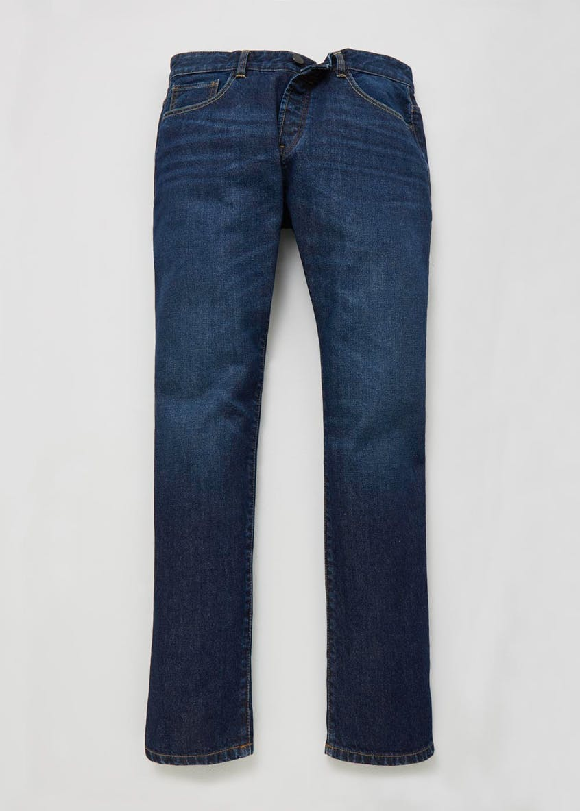 Straight Fit Dark Wash Jeans