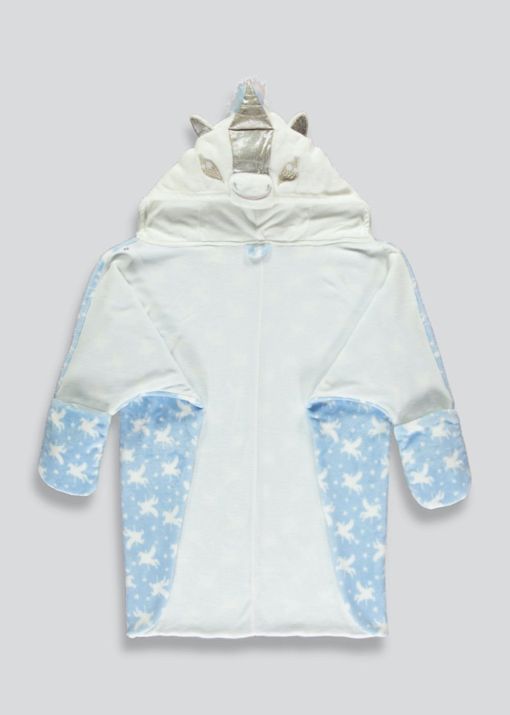 Girls Unicorn Cape Dressing Gown (6-13yrs) – Blue – Matalan