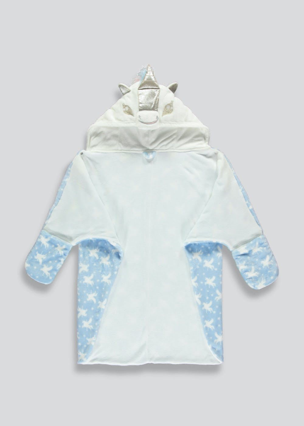 Girls Unicorn Cape Dressing Gown (9mths-5yrs) – Blue – Matalan