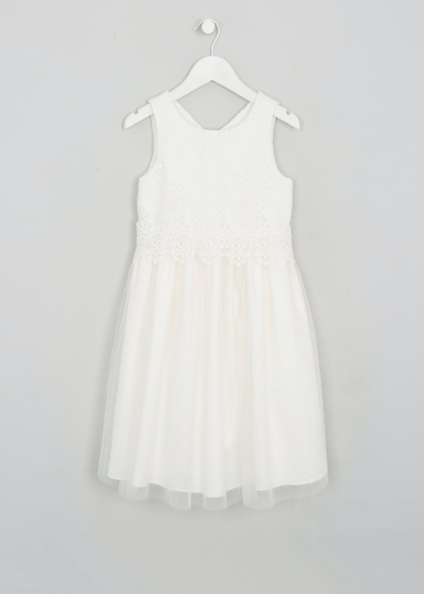 Girls Lace Flower Girl Dress (3-13yrs)