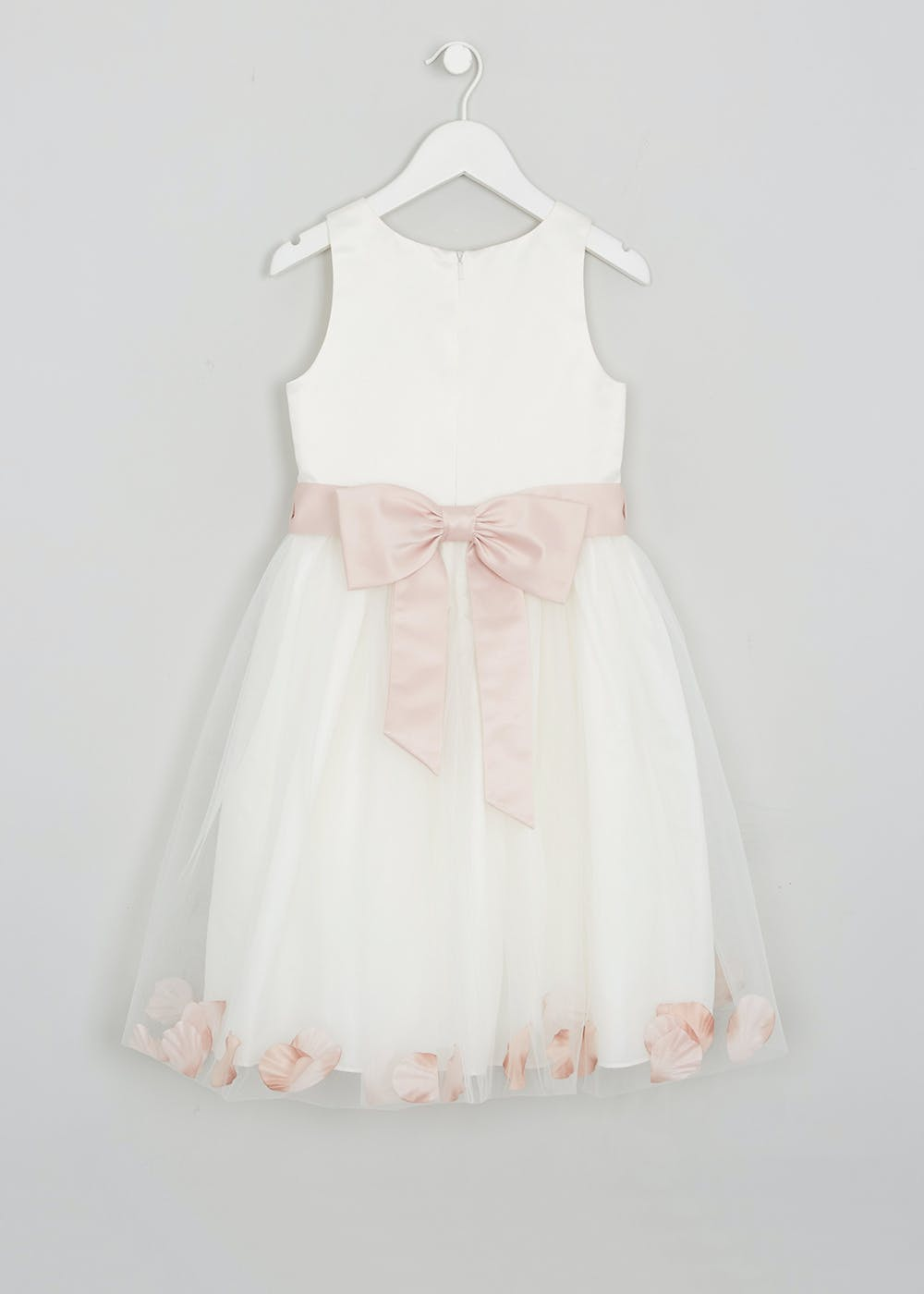 Girls Petal Flower Girl Dress (3mths-13yrs) – Cream – Matalan