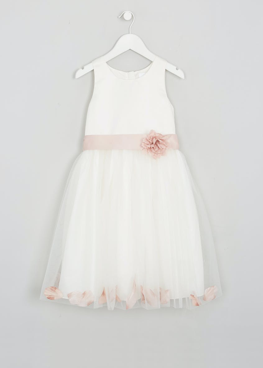 Girls Petal Flower Girl Dress (3mths-13yrs)