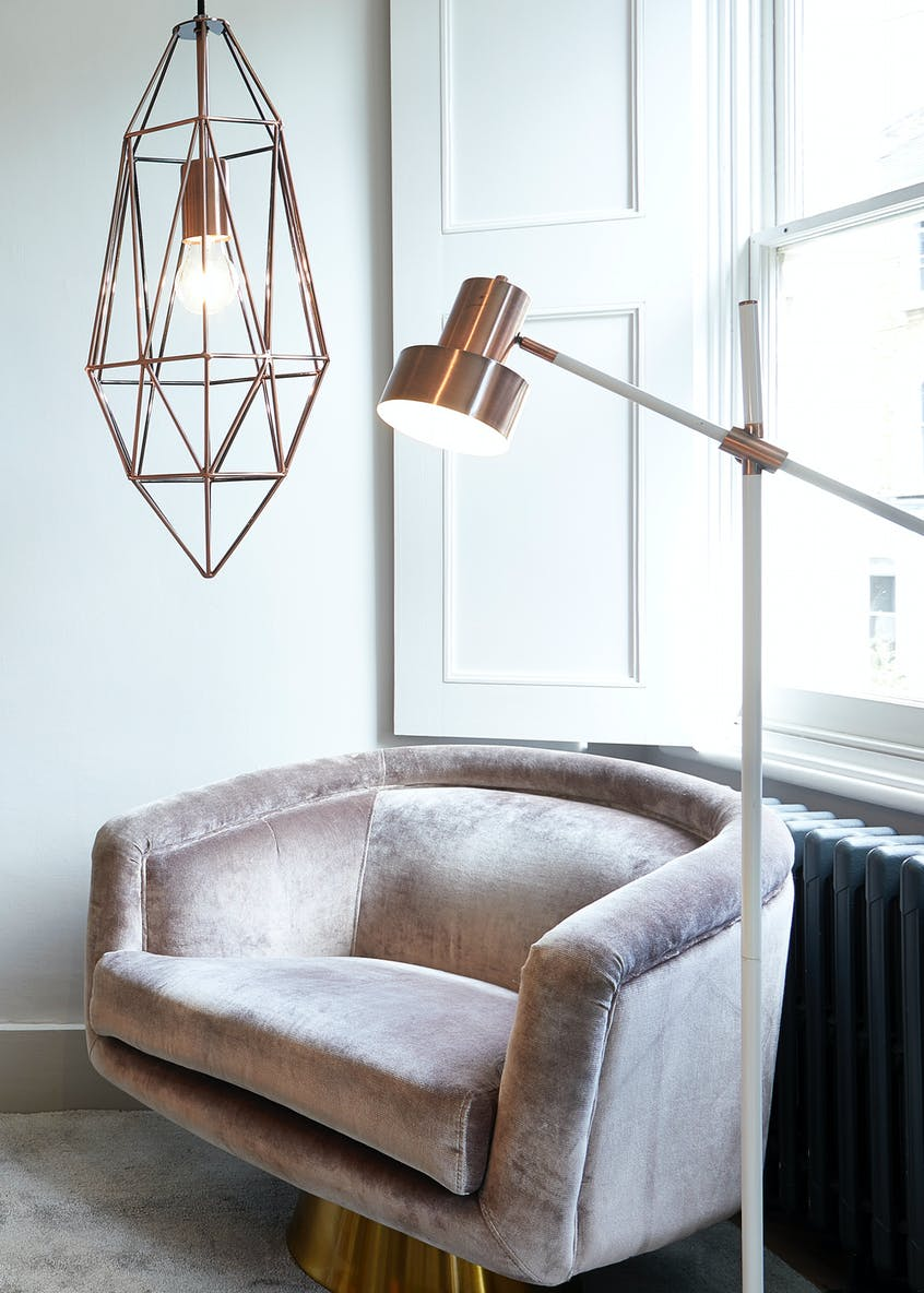 Cristal Copper Pendant Light (H136cm-60cm x W20cm)
