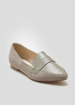 Wide Fit Pointed Loafers