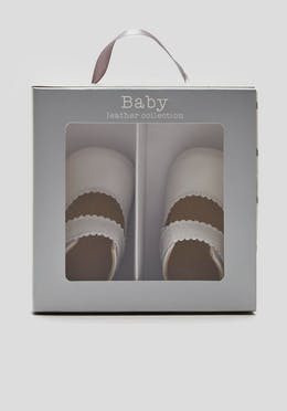 Unisex Boxed Leather Soft Sole Baby Shoes (Newborn-18mths)