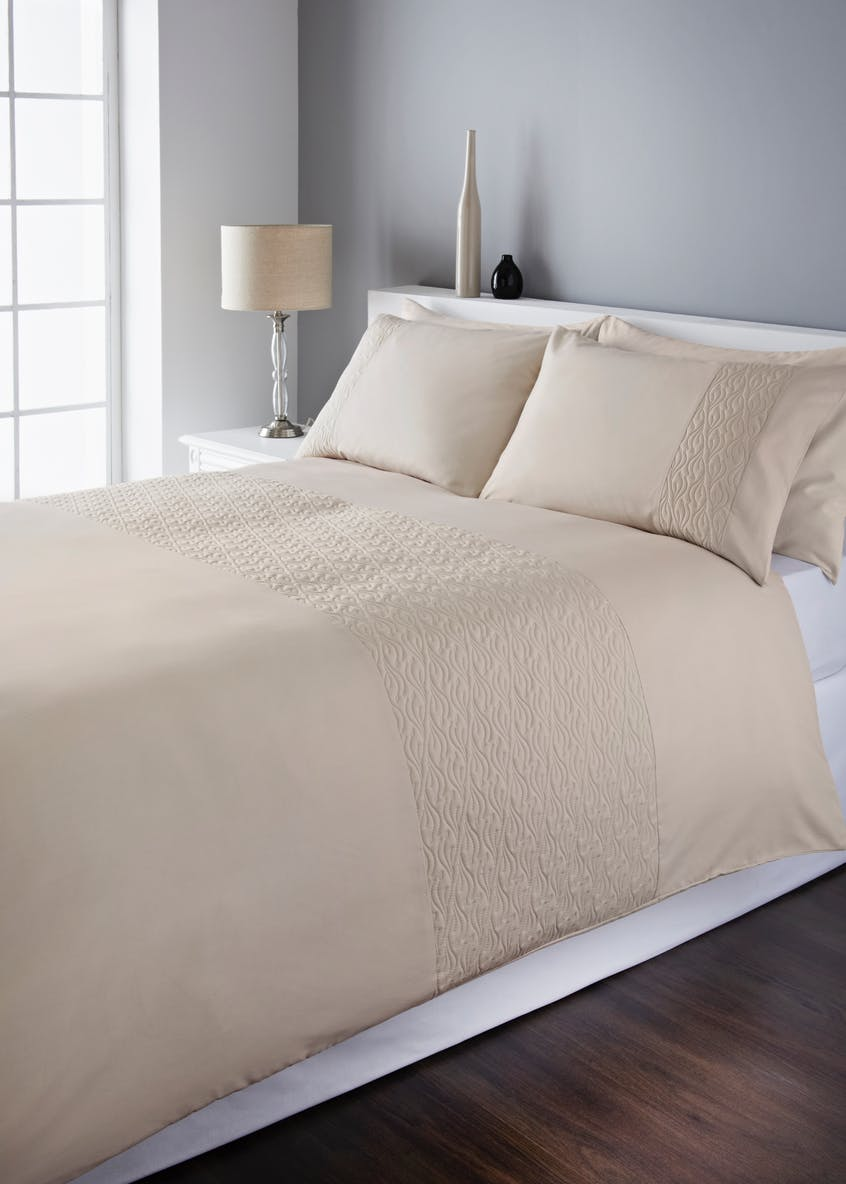 Quilted Panel Duvet Cover