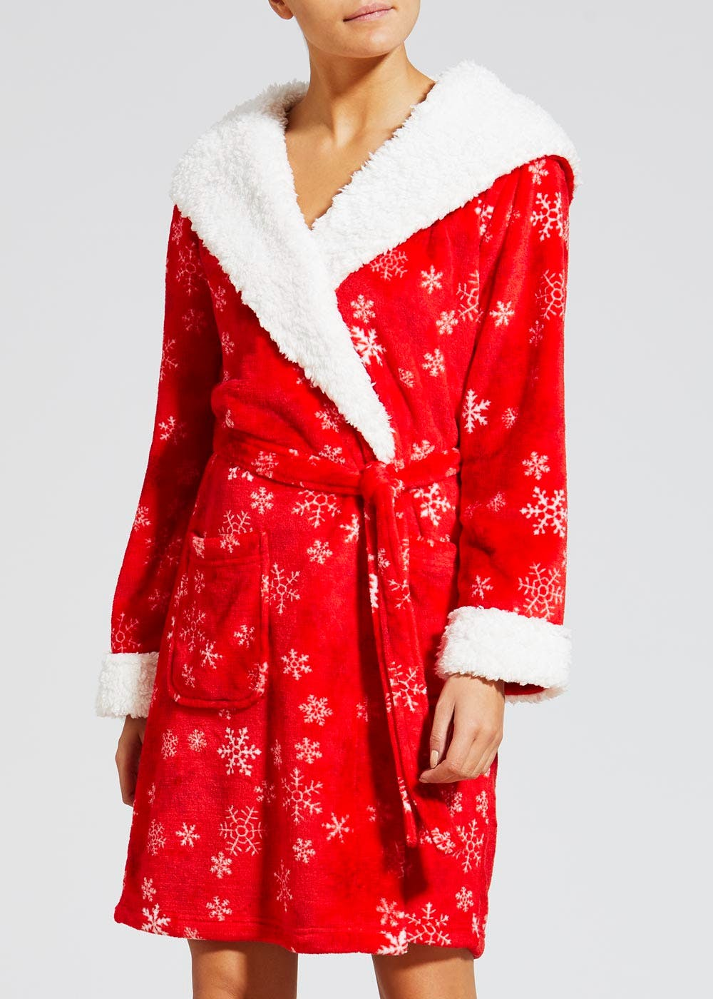 Reindeer Novelty Christmas Dressing Gown – Red – Matalan