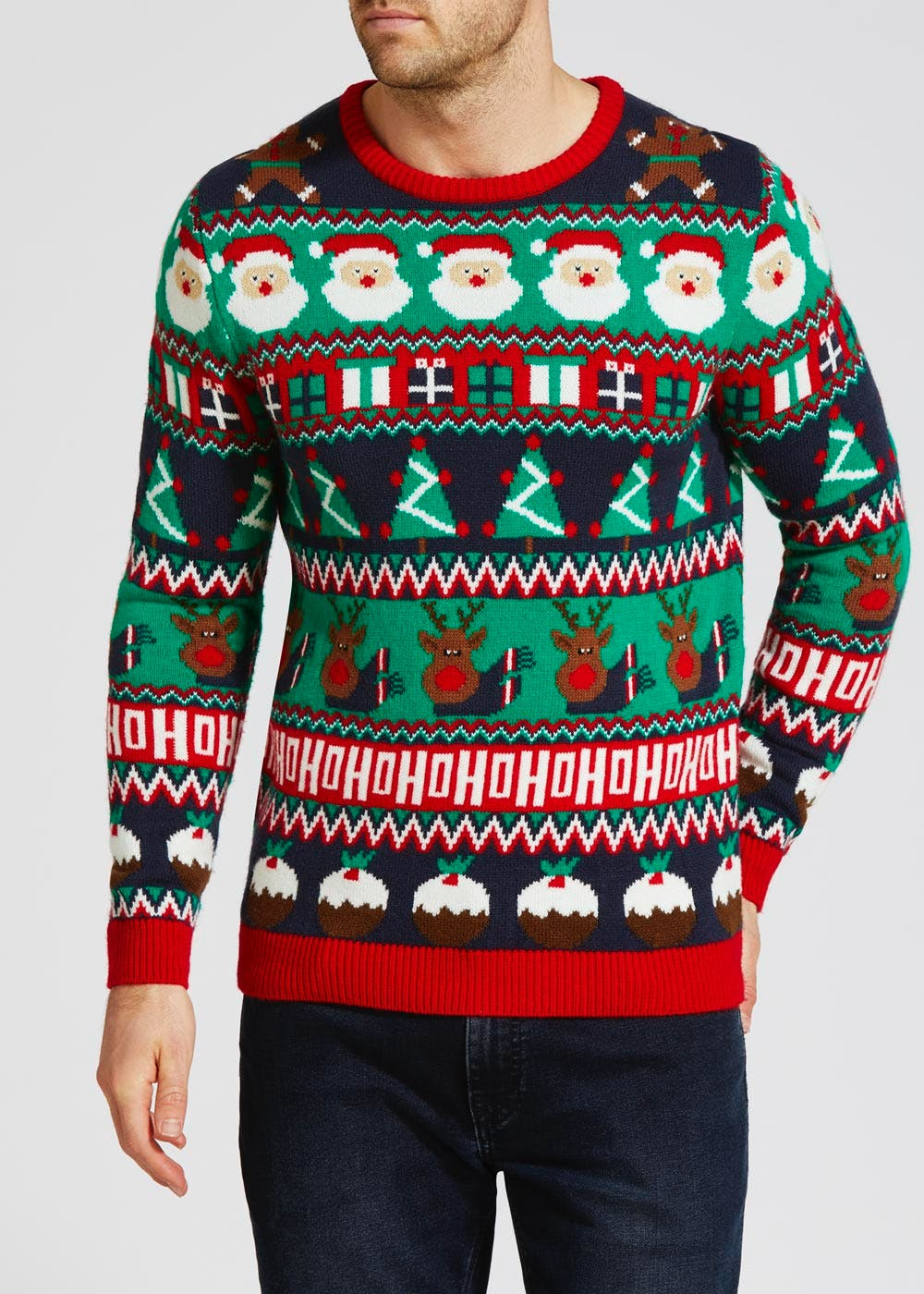 Next Christmas Jumpers.Wrapping Paper Christmas Jumper