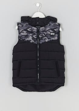 Boys NYC Camo Gilet (4-13yrs)