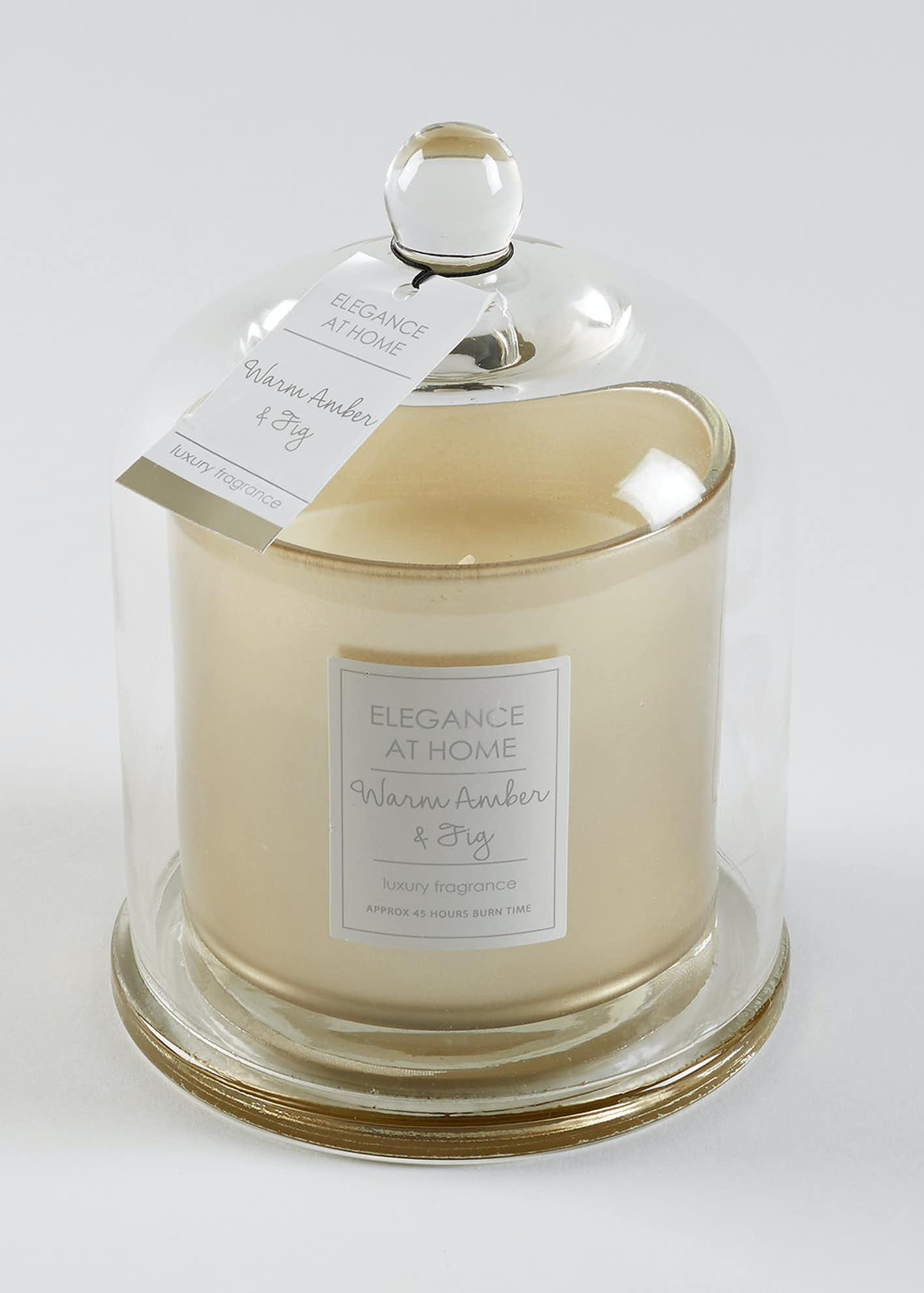 Warm Amber & Fig Scented Candle (19cm x 14cm)