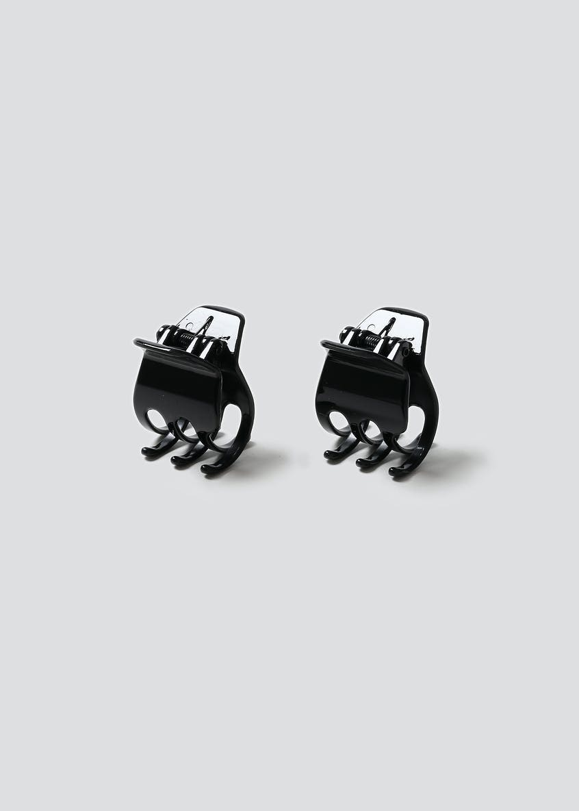 Pack Of Two Black Claw Clips