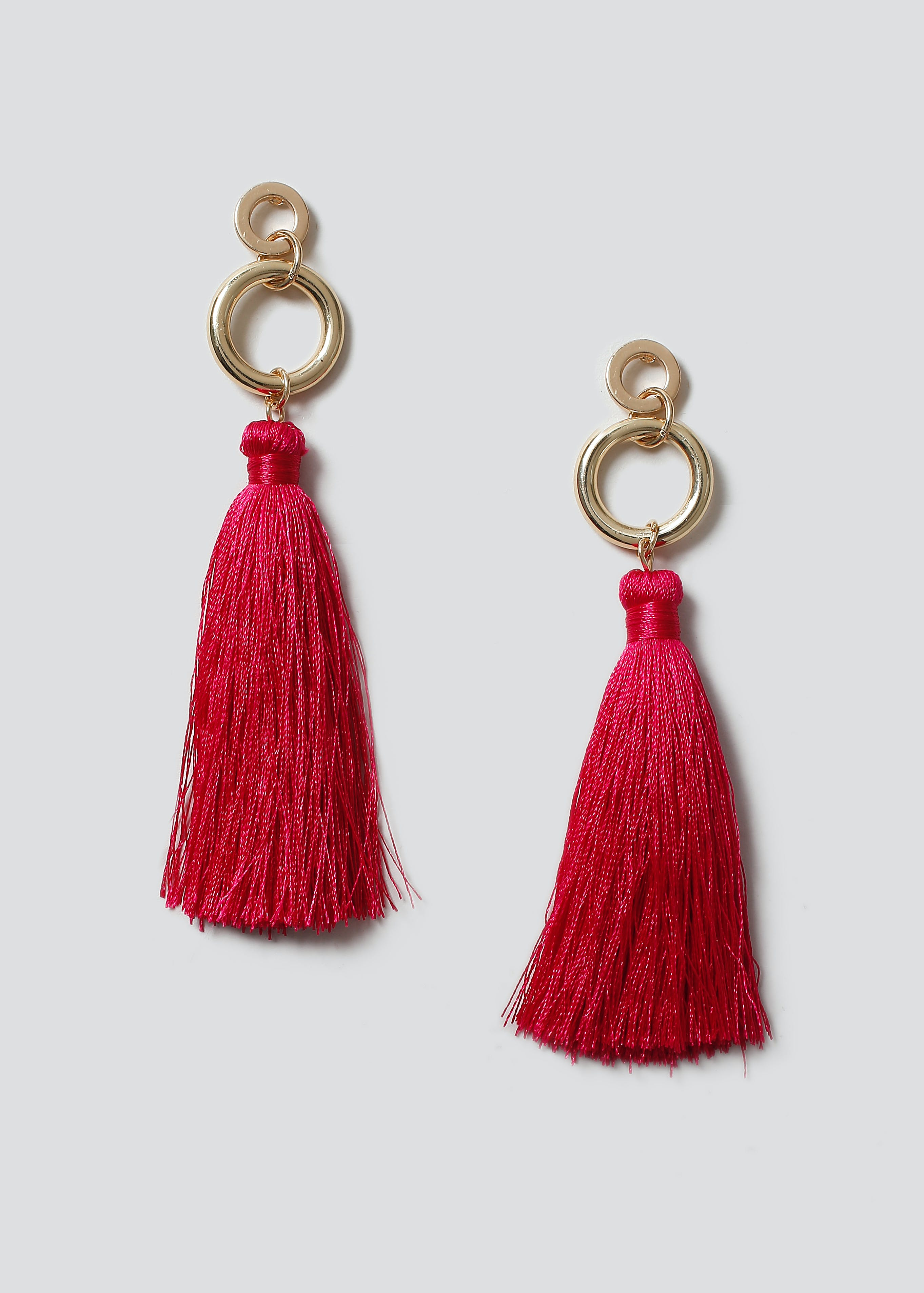 with earrings product tassel tassle gold leather camel ribbed cap