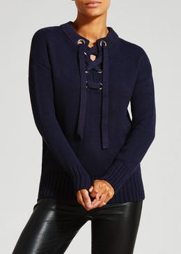 Chunky Lace Up Jumper