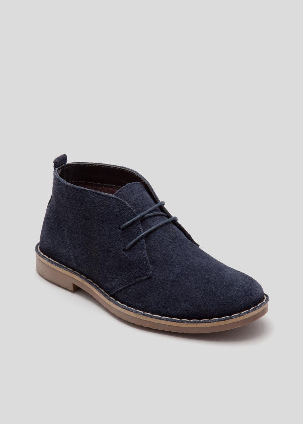Boys Real Suede Desert Boots Younger 10 Older 6 Navy