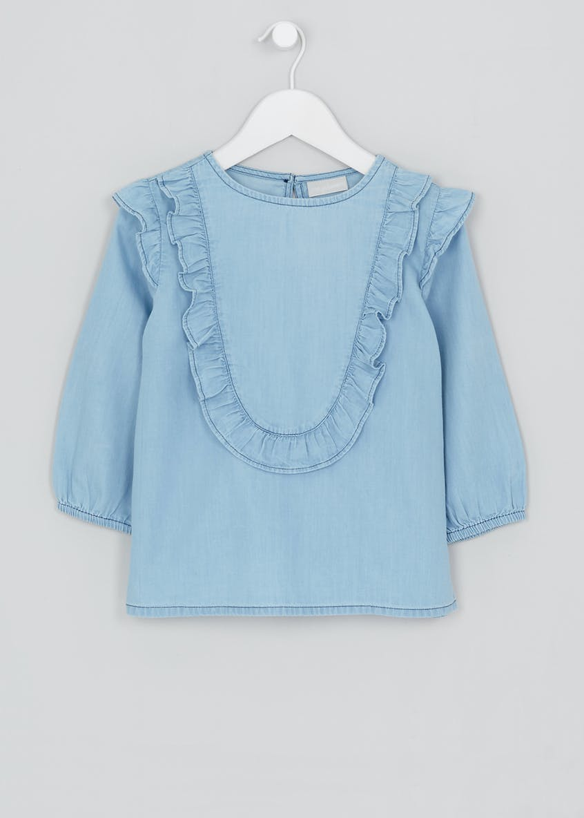 Girls Frill Blouse (4-13yrs)