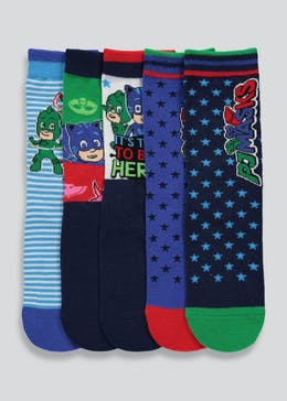 Kids PJ Masks 5 Pack Socks (Younger Kids 6-Older Kids 3)