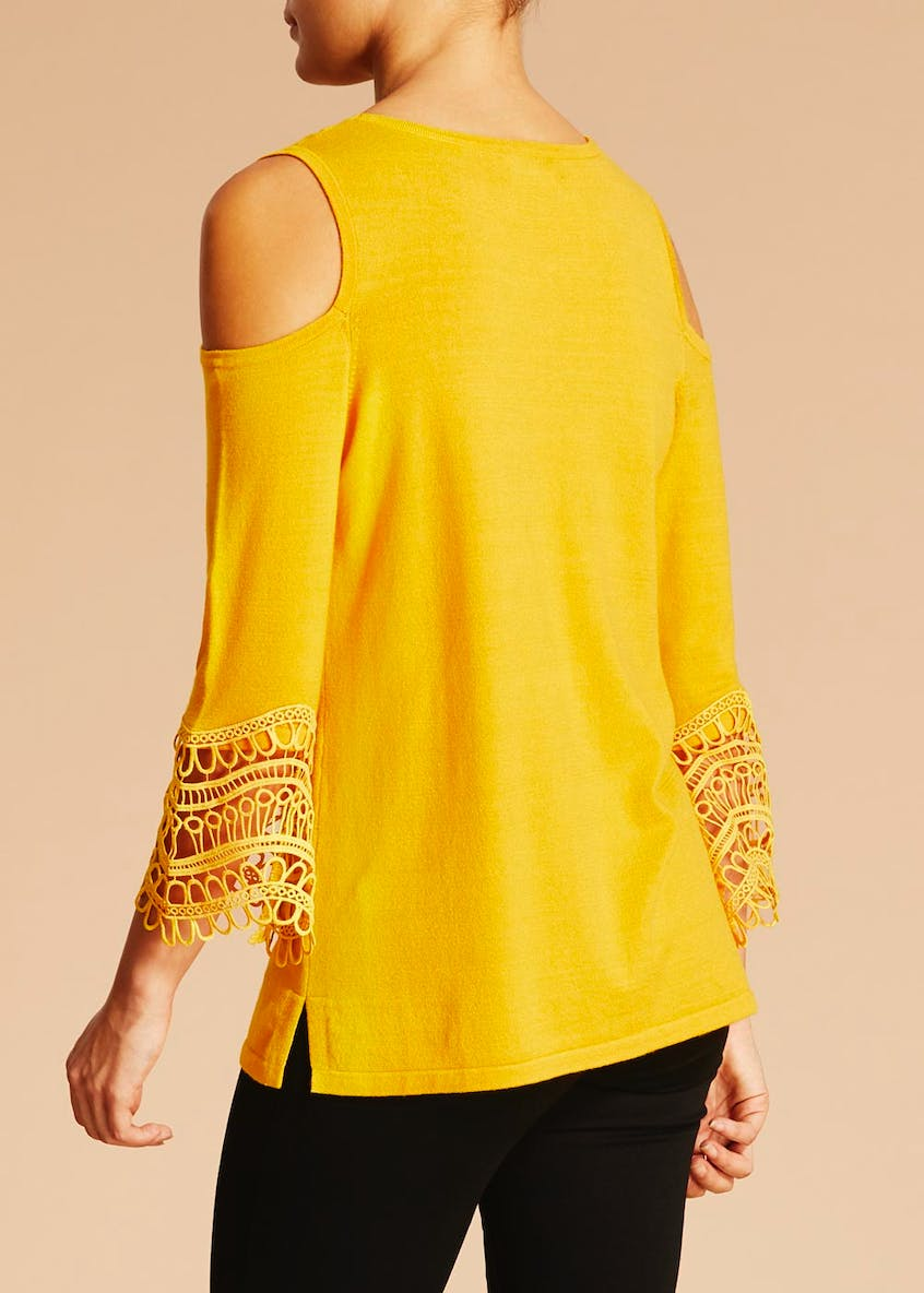 Soon Cold Shoulder Knit Jumper