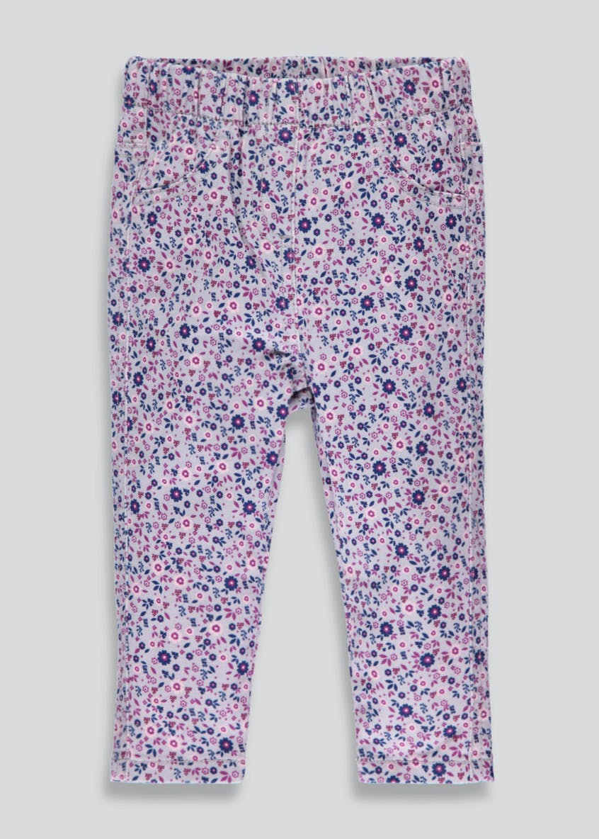 Girls Floral Jeggings (3mths-5yrs)