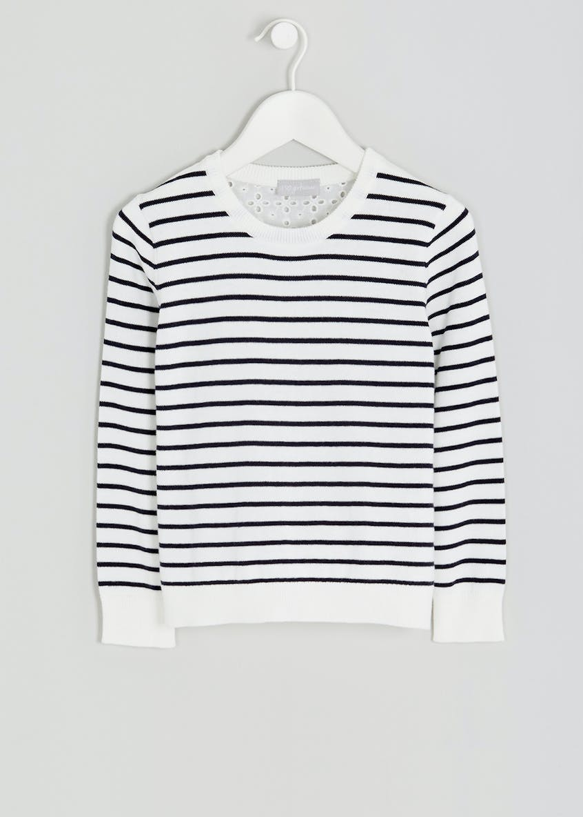 Girls Woven Back Jumper (4-13yrs)