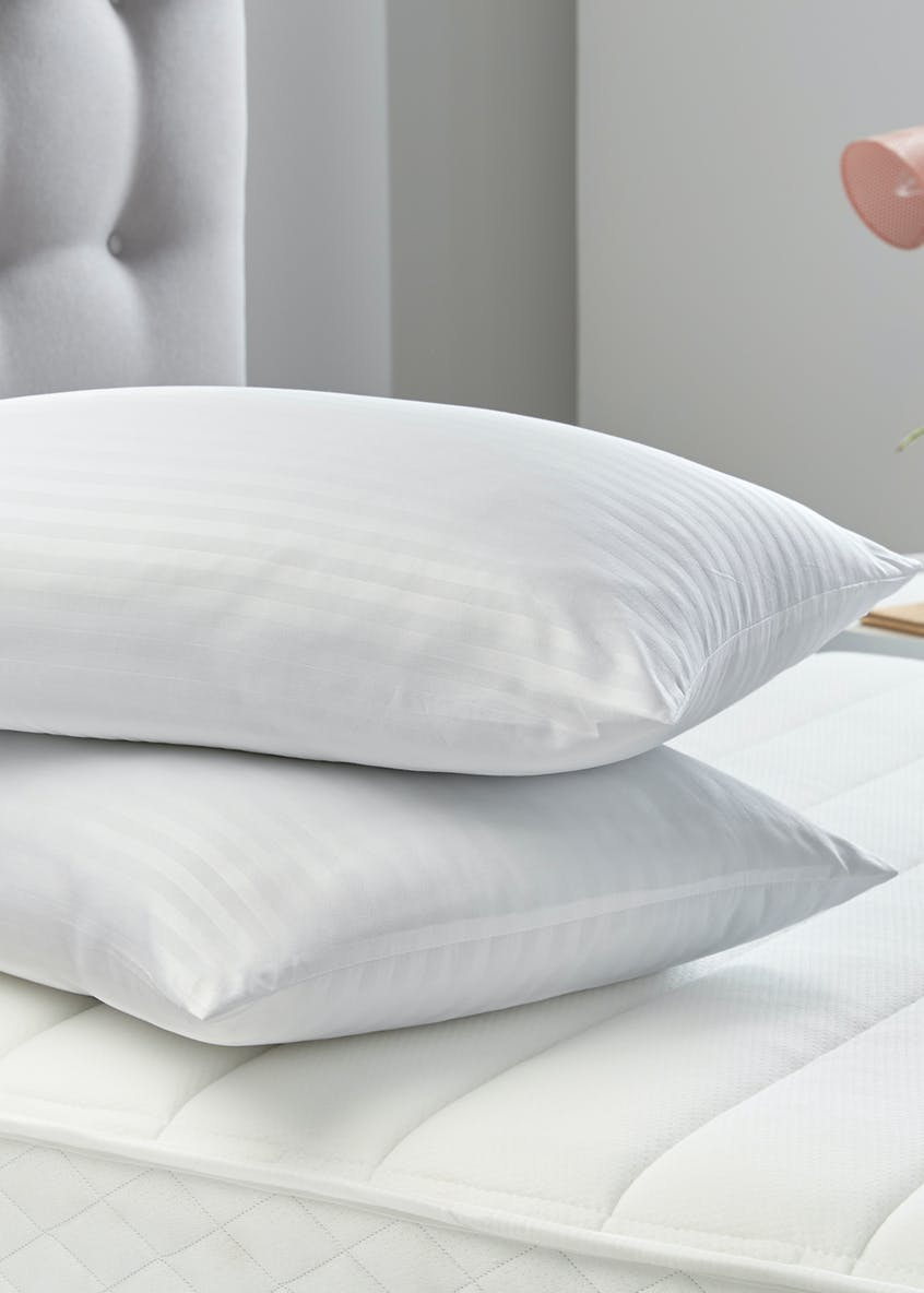Silentnight Satin Stripe Pillow Pair