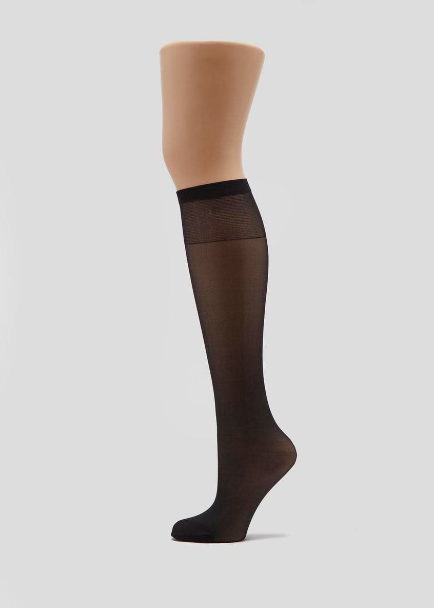 5 Pack 15 Denier Opaque Knee Highs
