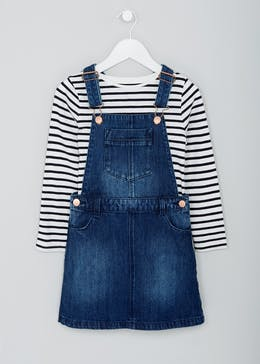 Girls Denim Pinafore Set (4-13yrs)