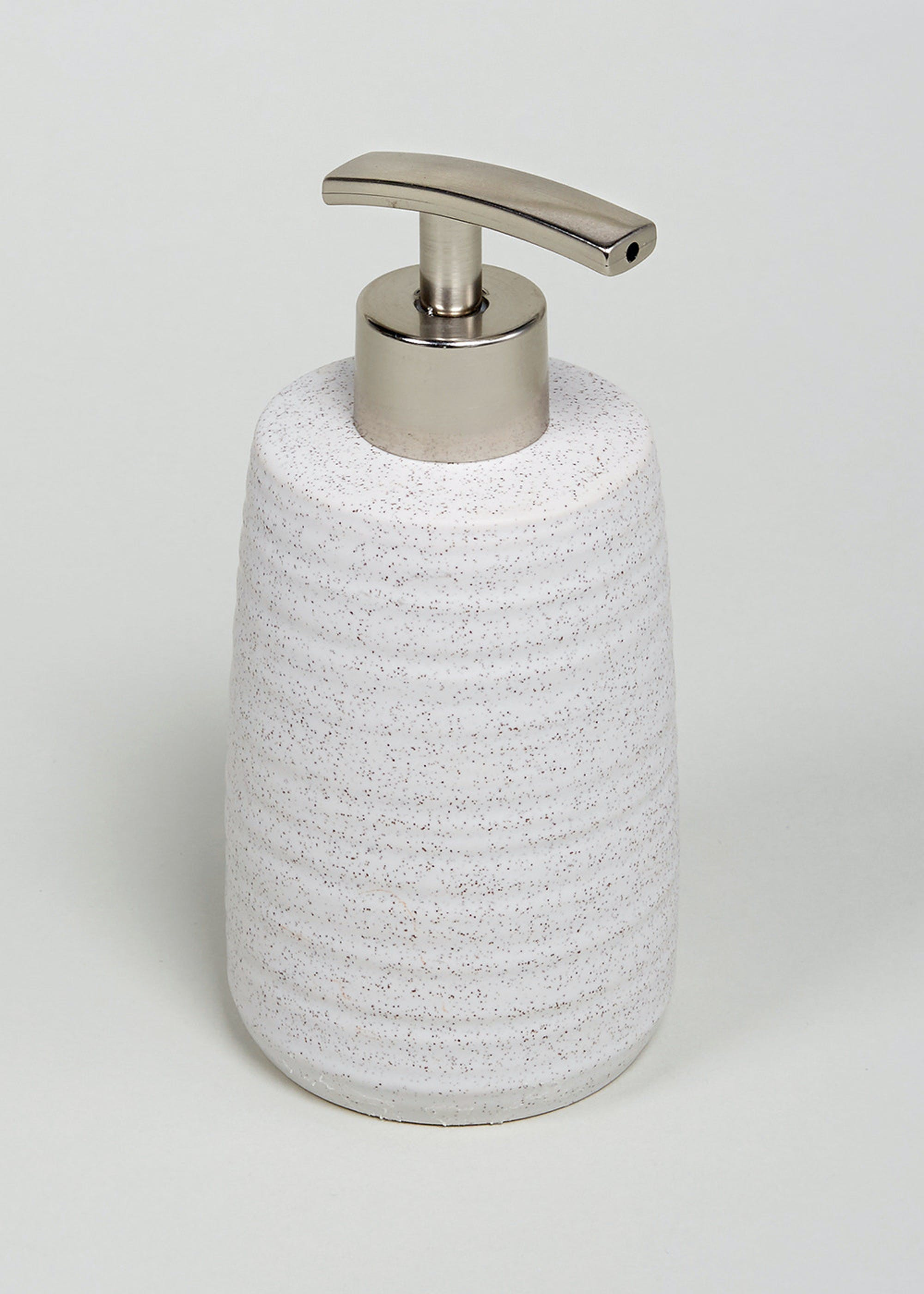 Ridged Spa Soap Dispenser (3cm x 3cm) – Natural – Matalan