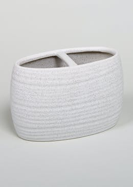 Ridged Spa Toothbrush Holder (18cm x 12cm x 6cm)
