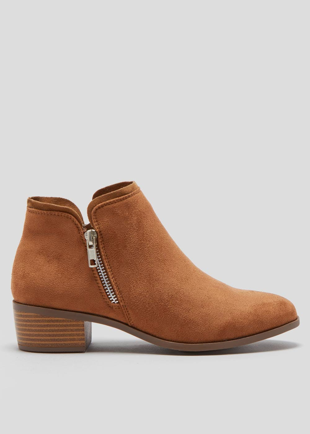 699a0b4f939 Side Zip Western Ankle Boots