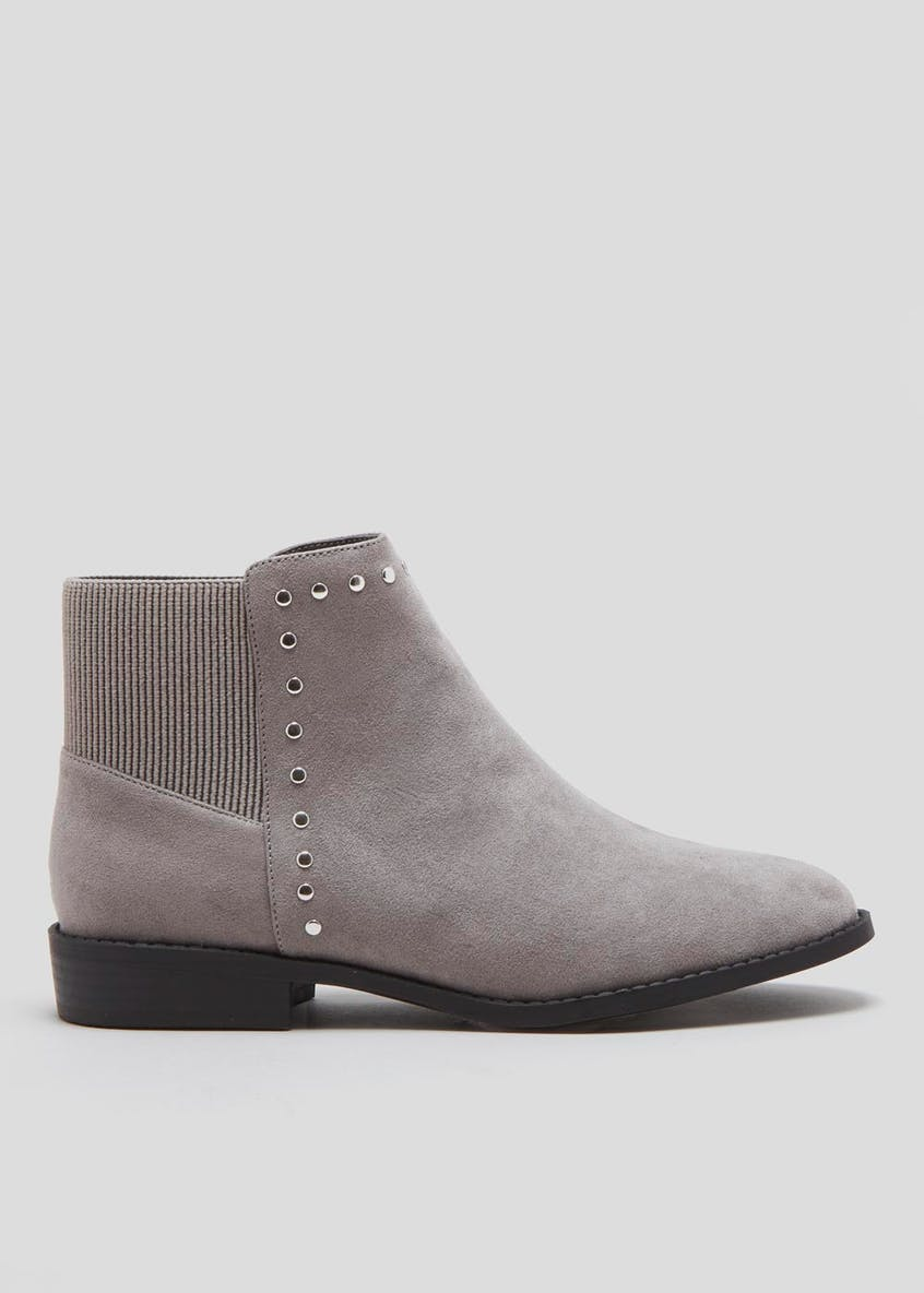 Wide Fit Stud Chelsea Boots