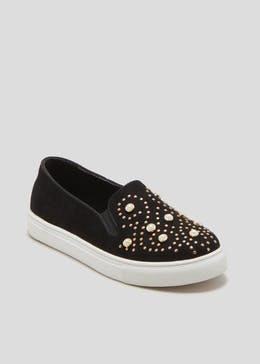 Girls Pearl Slip On Shoes (Younger 10-Older 5)